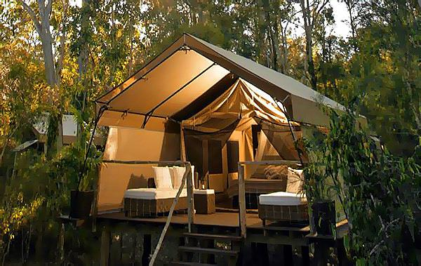 Paperbark C& luxury tented accommodation & Alluxia | Luxury holiday houses boutique hotels Australia ...