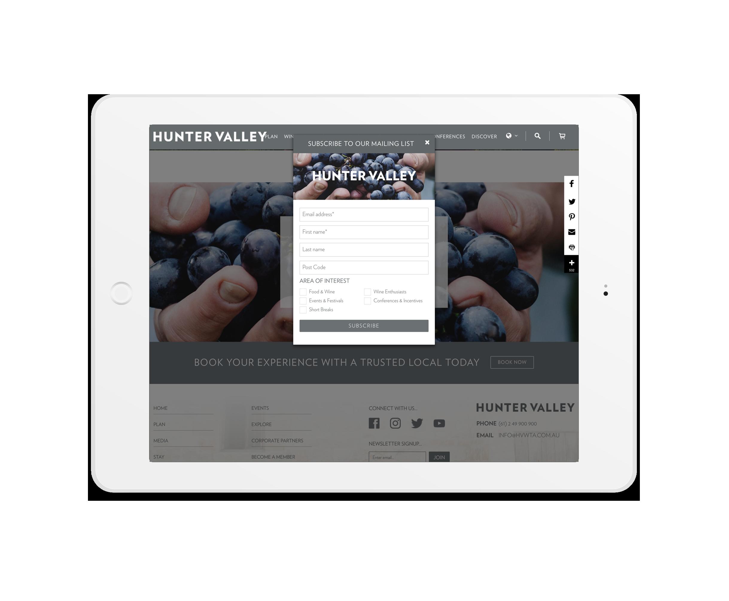 E-Newsletter Integration