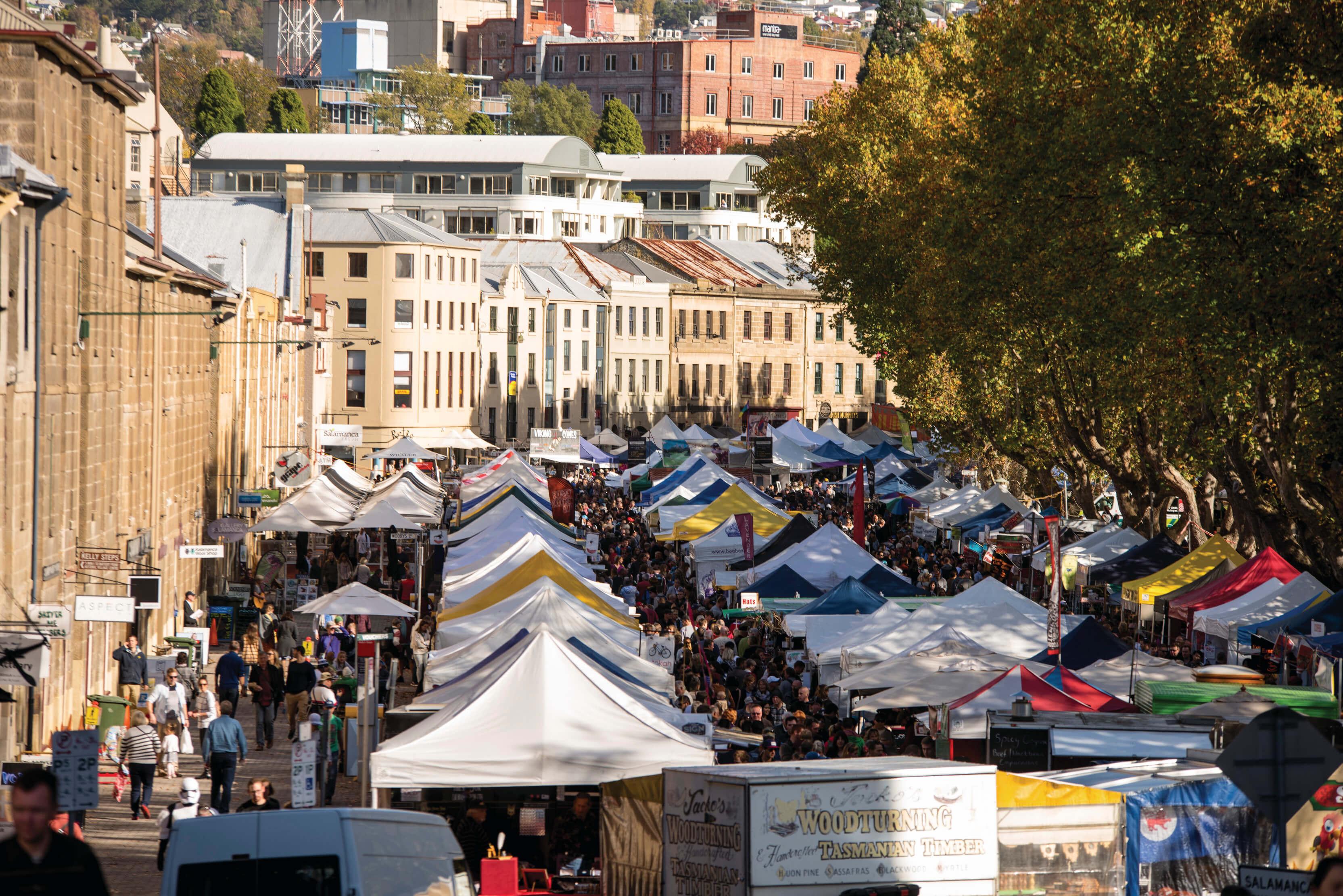 South-Tasmania Hobart Salamanca-Market 132802-2