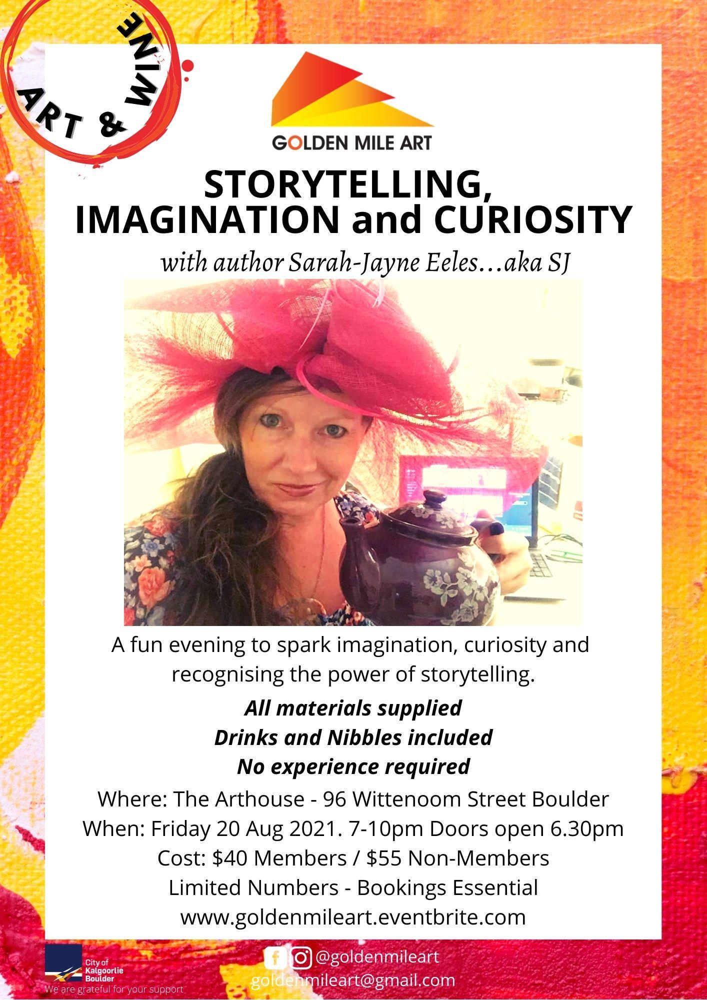 Storytelling, Imagination and Curiosity with Author Sarah-Jayne Eeles...aka SJ