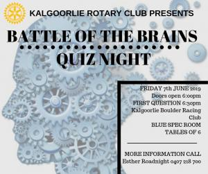 Battle of the Brains Quiz Night