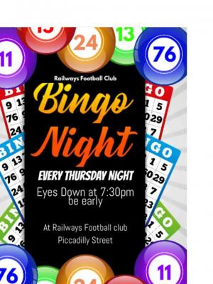Bingo Night at Railways Football Club