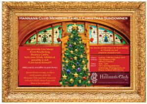 Hannans Club Members Family Christmas Sundowner