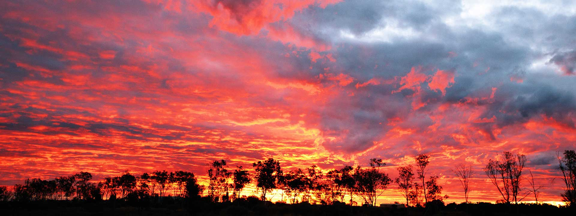 Firestorm sunset brewing over Thargomindah