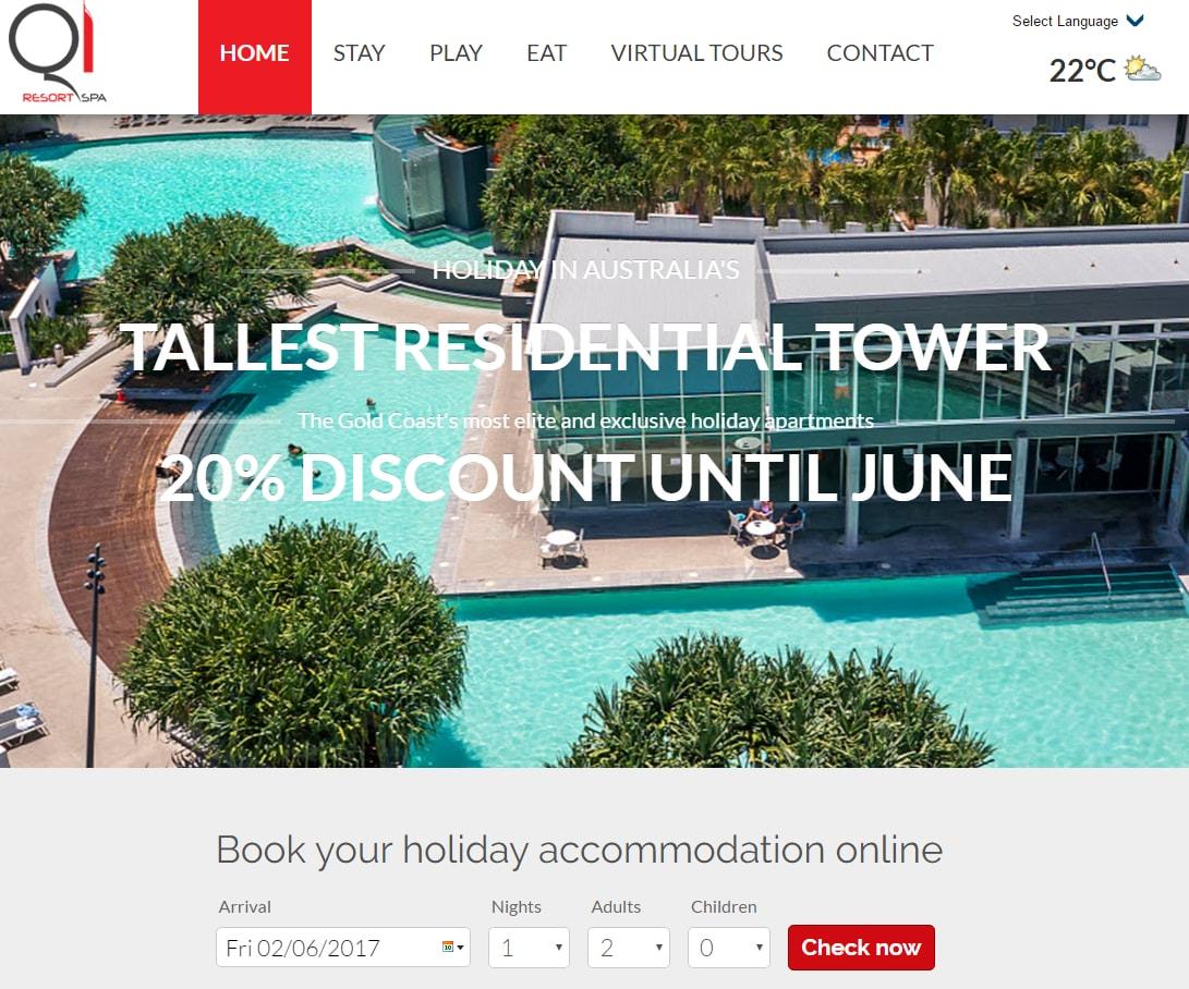 q1 resort home page widget