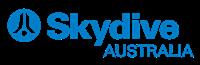 200xSKYDIVE AUSTRALIA - HORIZONTAL Blue CMYK