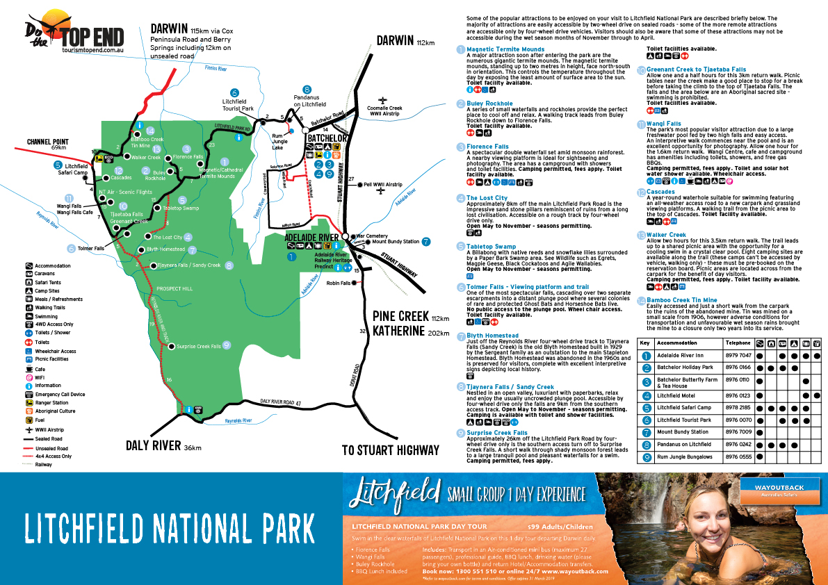 Tourism Top End - Litchfield Map