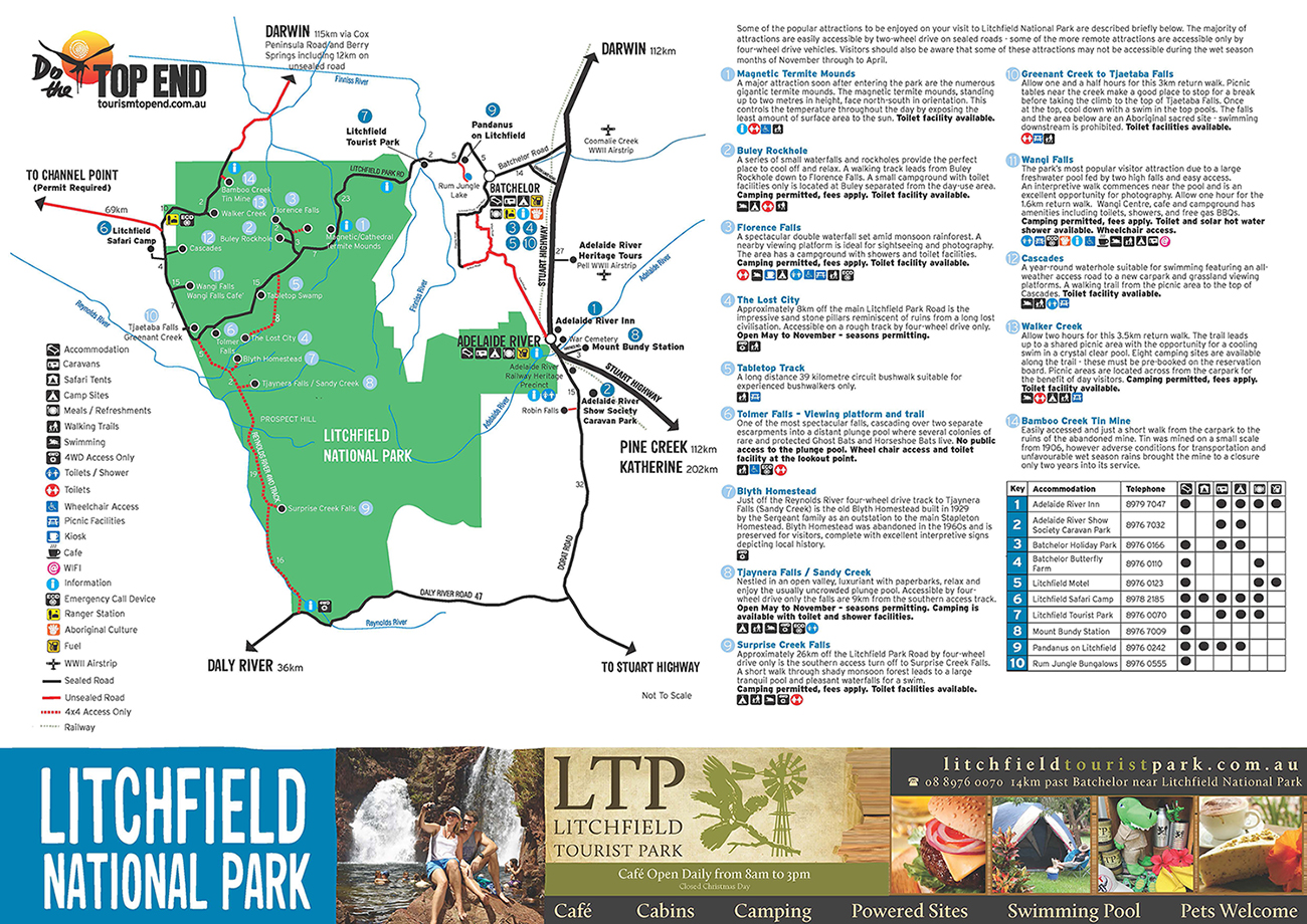 Tourism Top End Top End Maps Australias Northern Territory - 10 best sights of litchfield national park