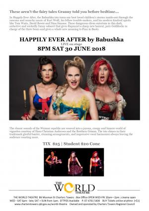 HAPPILY EVER AFTER by Babuska  [LIVE] music comedy cabaret