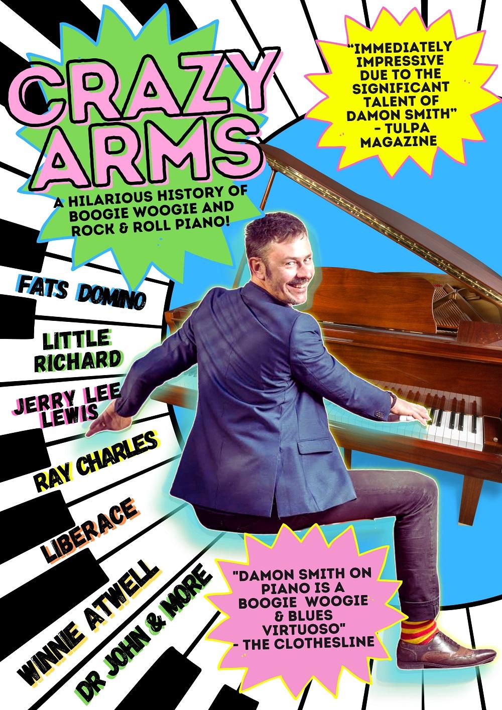 CRAZY ARMS poster for socials REDUCED