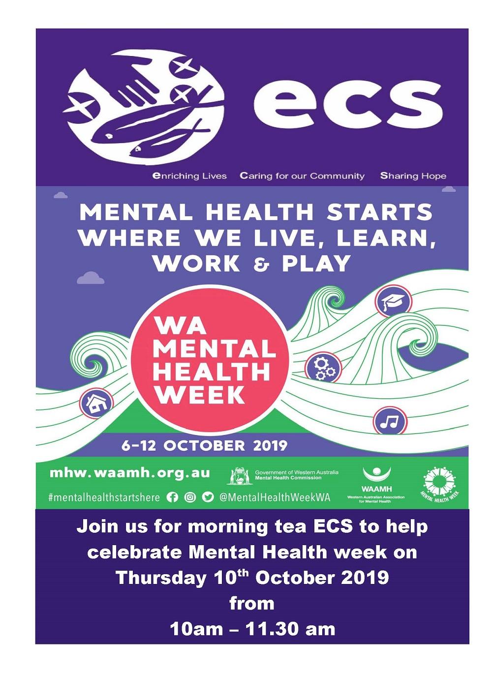 mental health week poster 2019