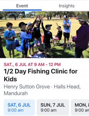 School holiday fishing clinic for kids