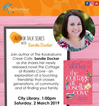 Author Talk with Sandie Docker@The City Library