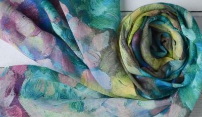 Watercolour Scarves @ City Library