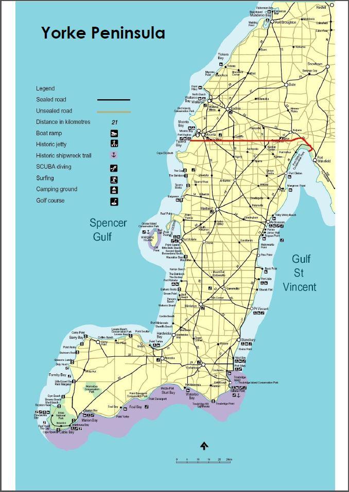 Yorke Peninsula Visitor Centre at Minlaton  maps