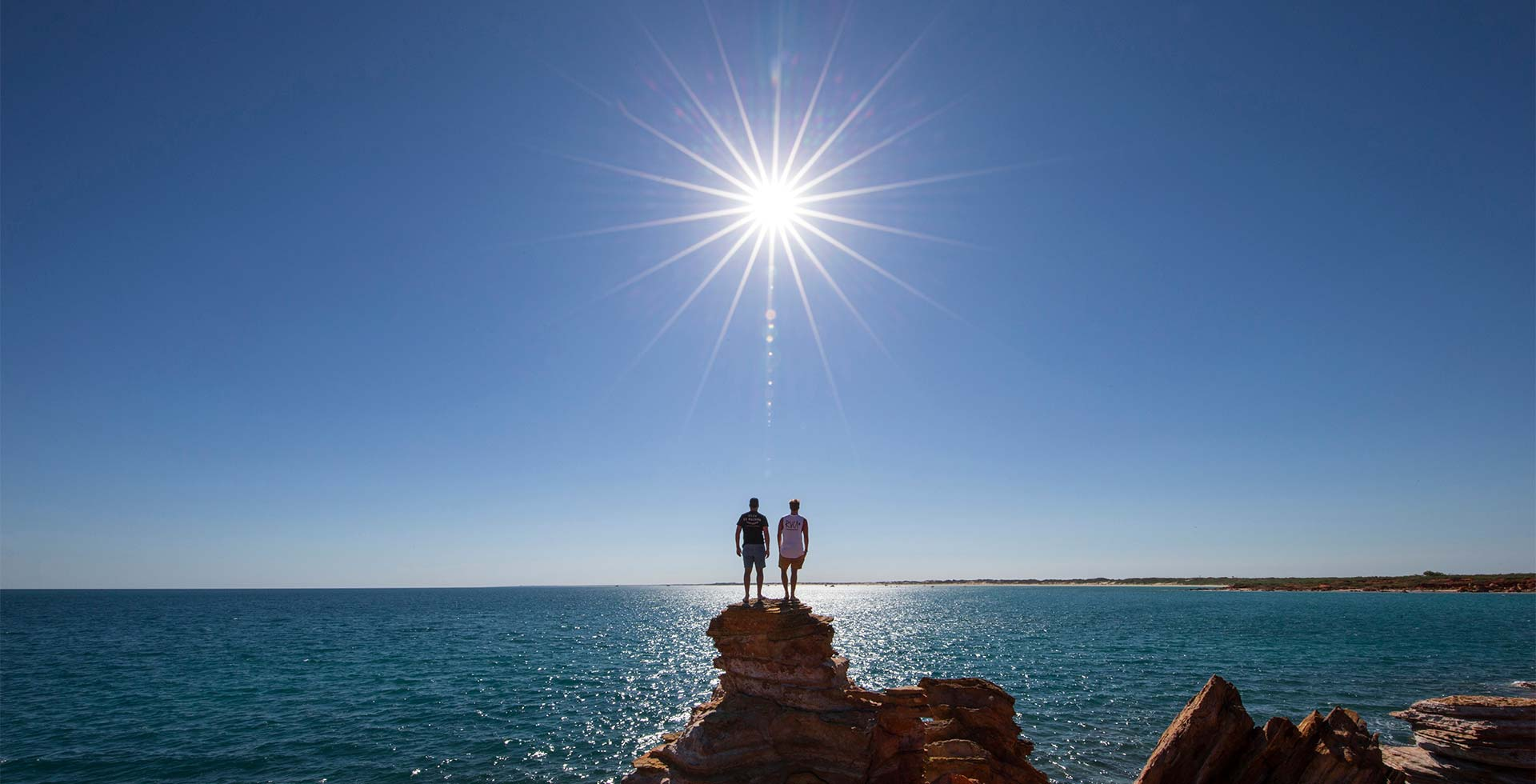 Spectacular cliffside views from Gantheaume Point in Broome!