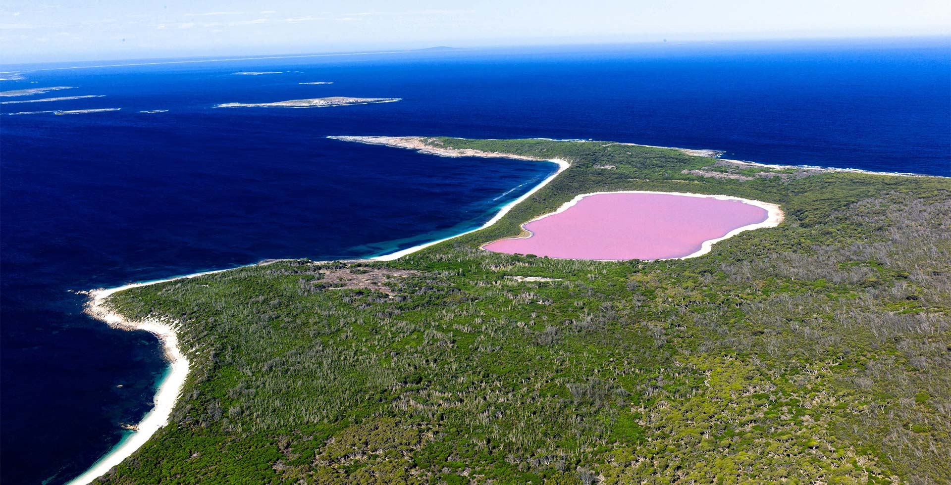 Experience the pink waters of Lake Hillier, Esperance