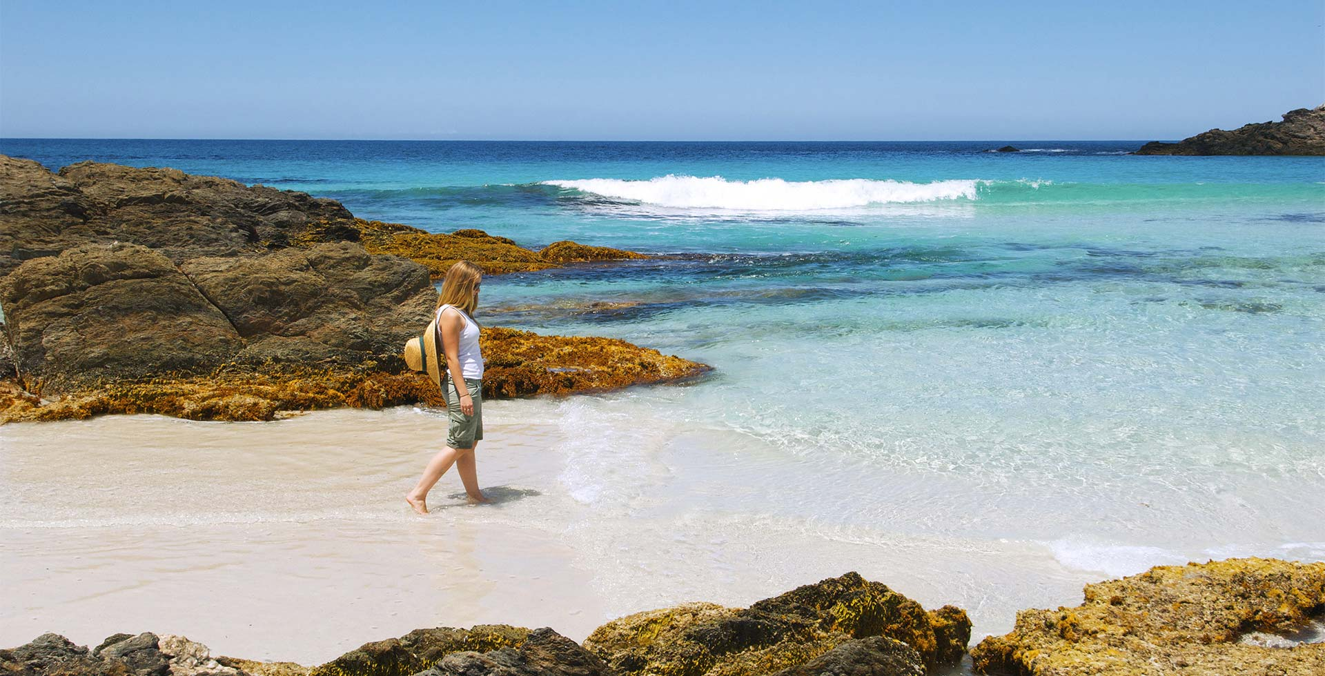 Dip your toes in the ocean at Quoin Head Beach only in Esperance