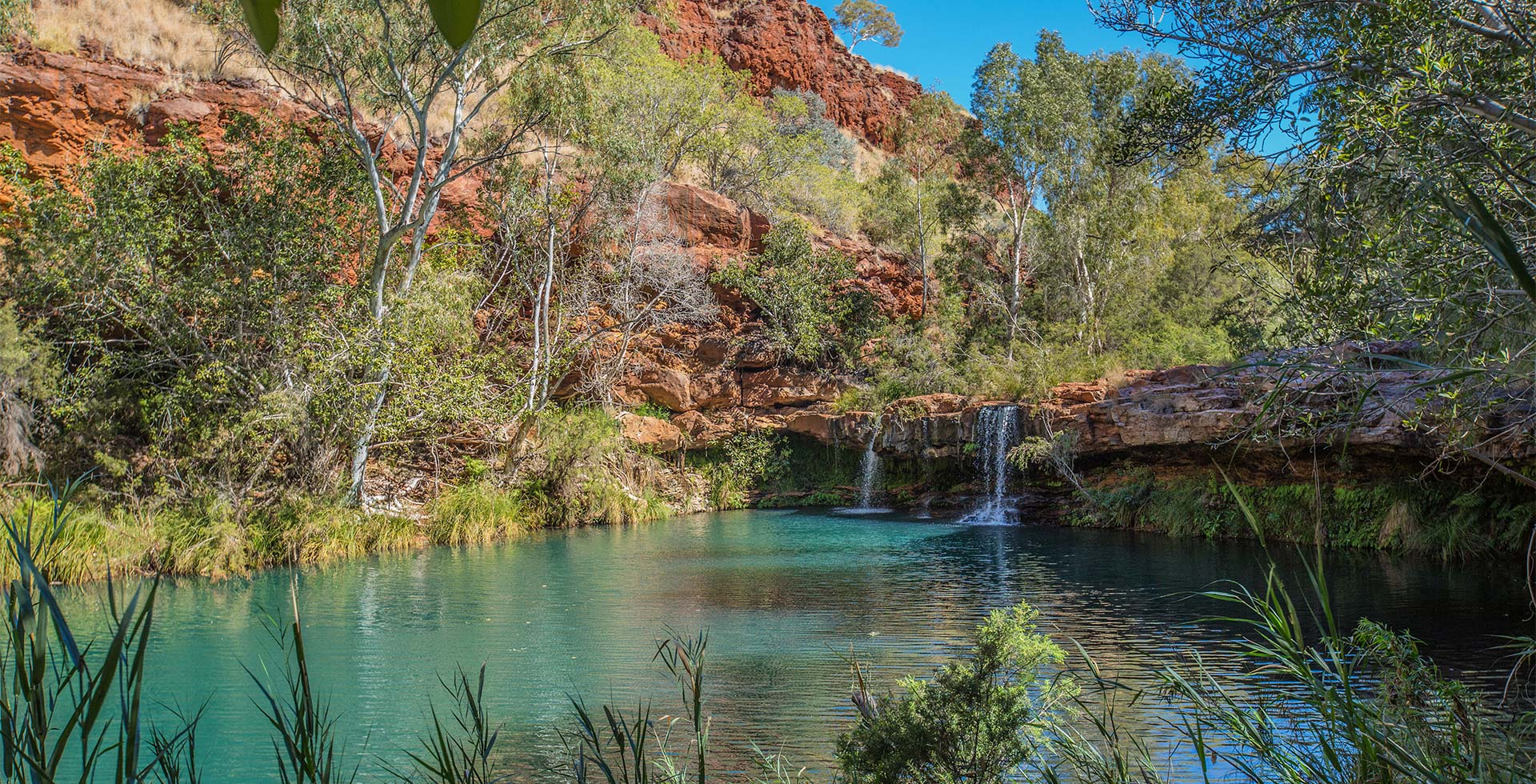 Discover hidden pools at Karijini National Park in Newman