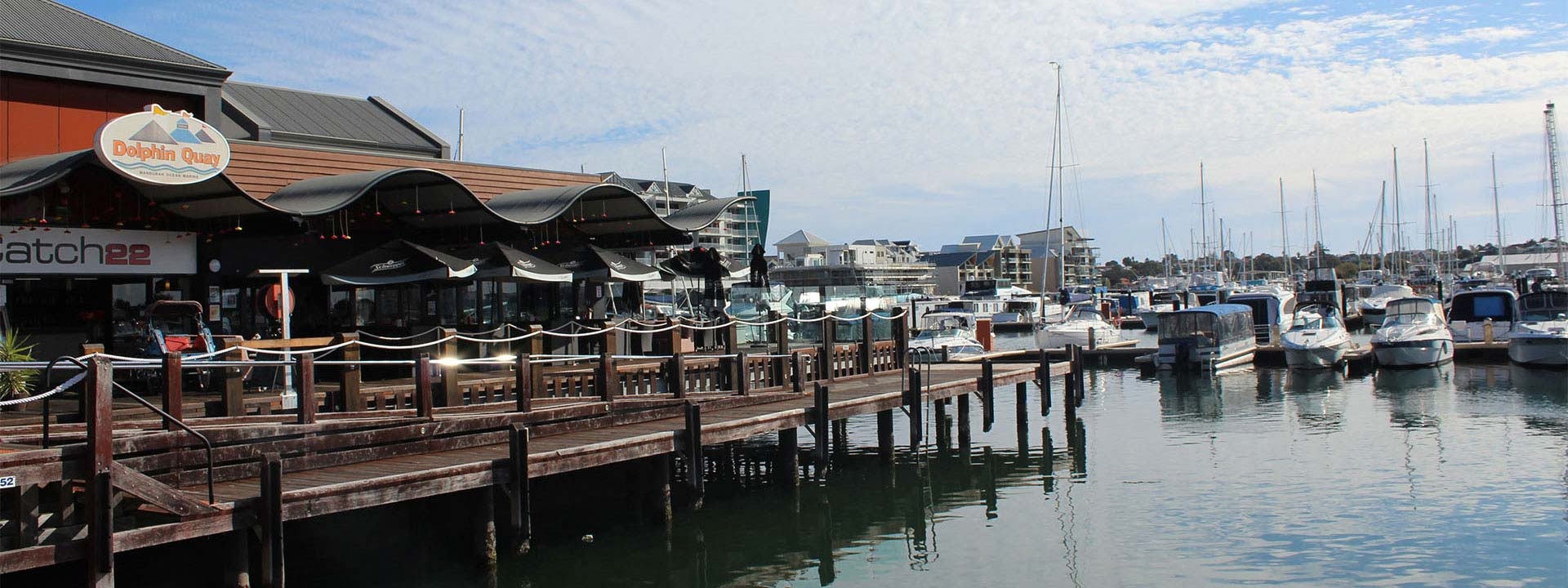 Enjoy an ocean view at Ocean Marina Chalets in  Mandurah