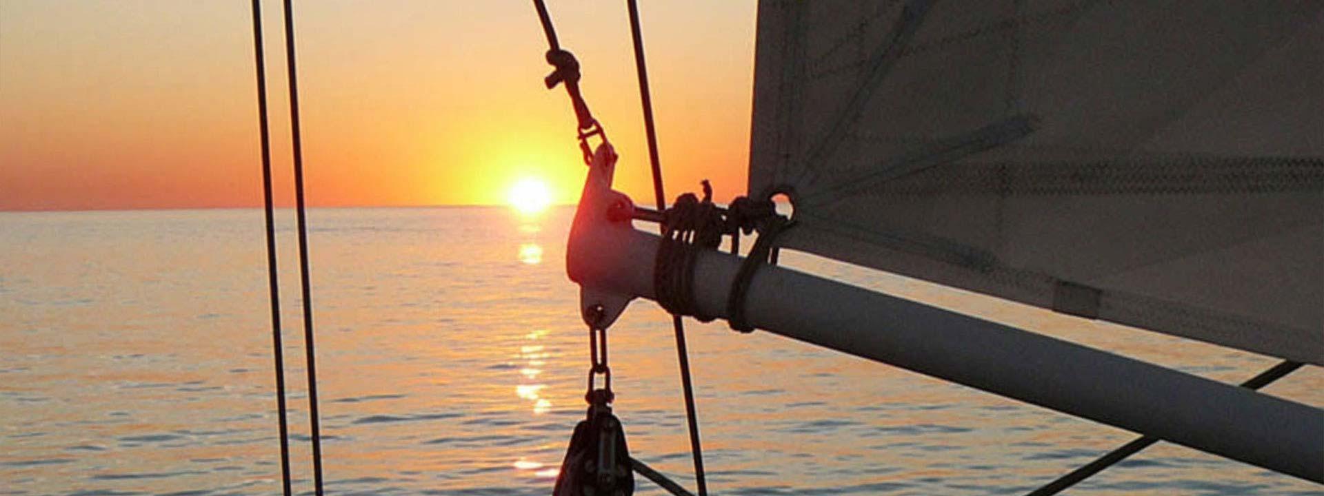 Enjoy a twilight sail with Starsand Yacht Charters