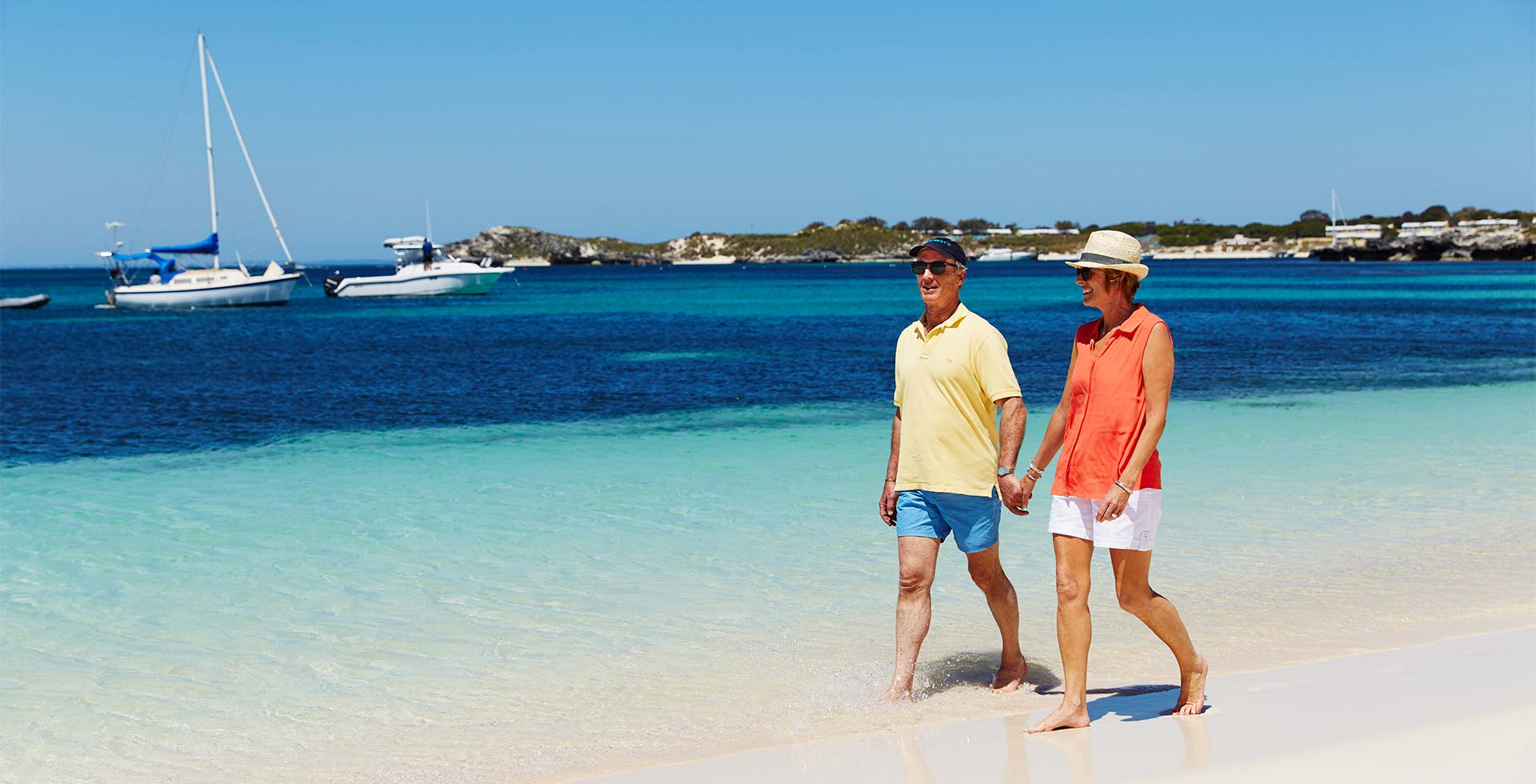 Stroll along the beach at Parakeet Bay in Rottnest Island