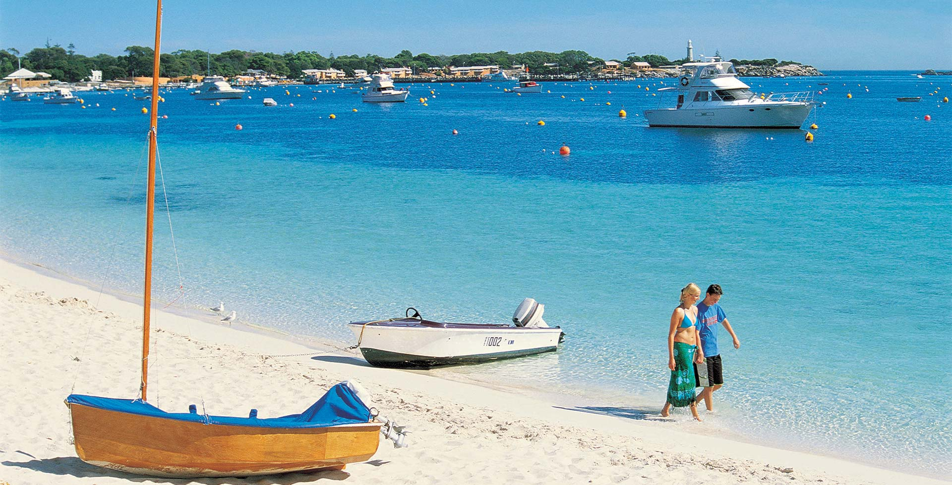 Dodge the tide at Thompson Bay on Rottnest Island in Perth