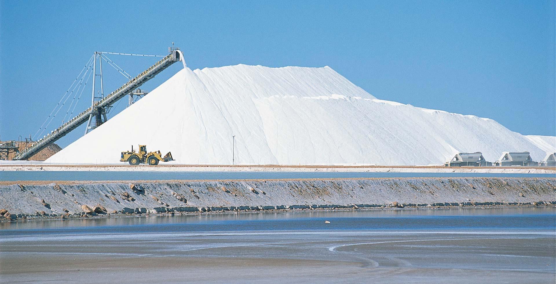 See the impressive Cargill Salt Flats in Port Hedland