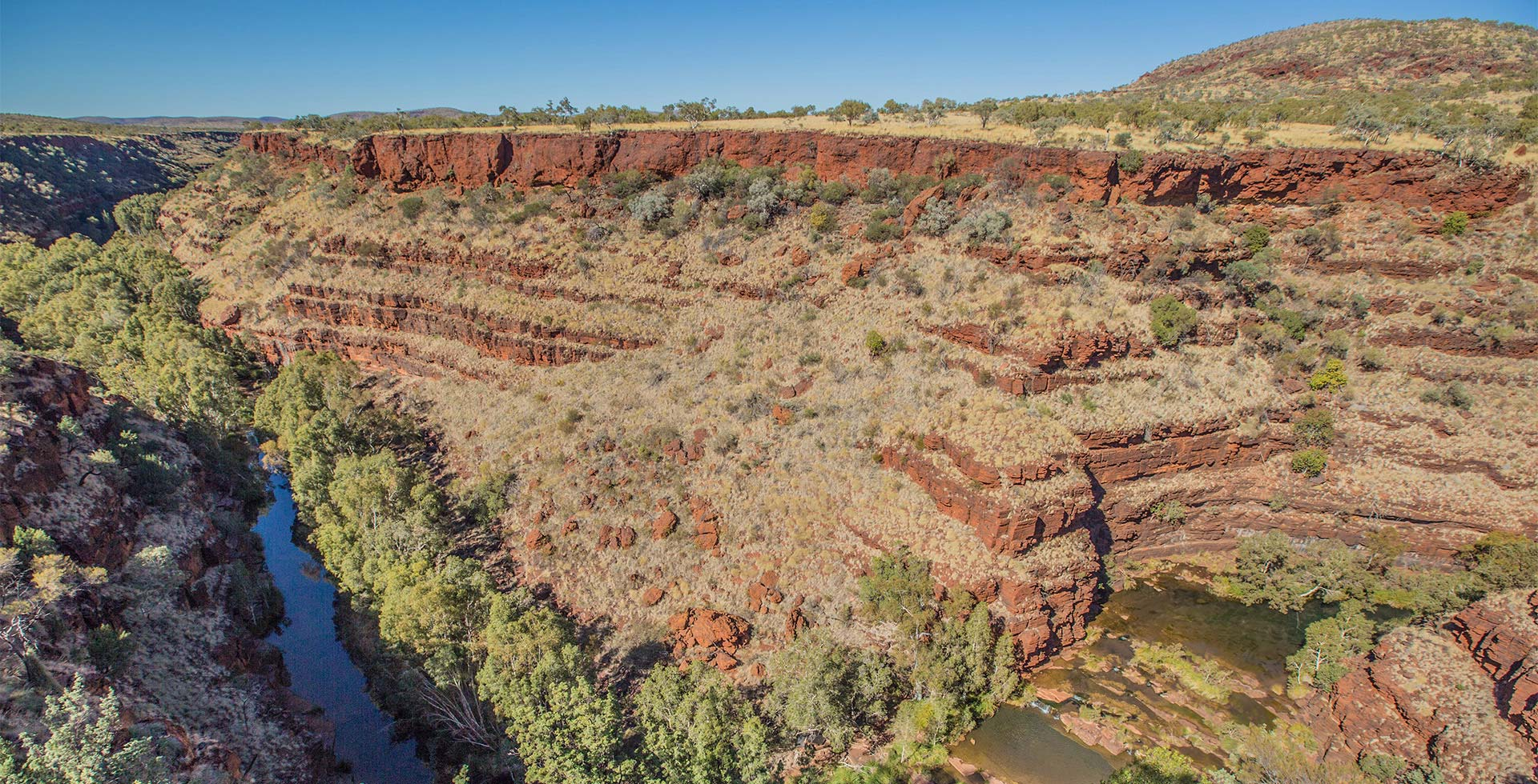 See the incredible Dales Gorge in Karijini near Port Hedland