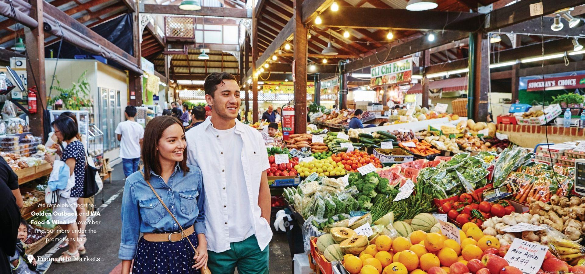 Walking through the fremantle Markets